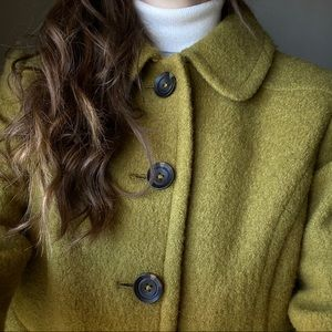 Boden Fit & Flare Boiled Wool Soho Coat